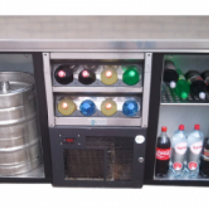 Koeling – Laag model met flessennest en RVS werkblad