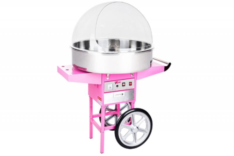 Suikerspin machine met decoratief onderstel