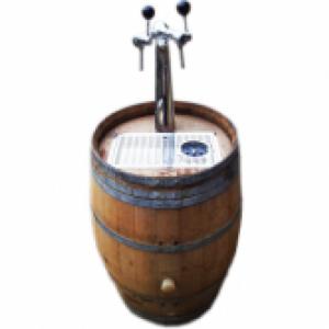 Biertap houten ton met spoelsysteem