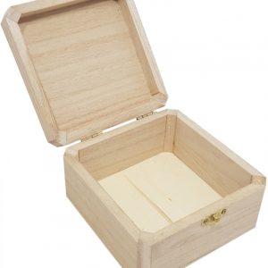 Kistje vierkant met scharniersluiting