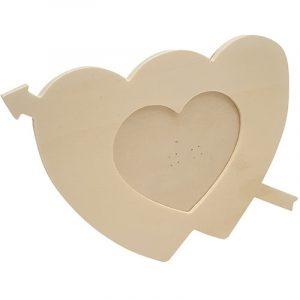 Lief houten fotolijstje in hartvorm
