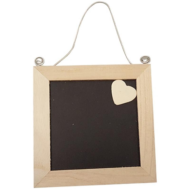 Handig frame, klein schoolbordje met decoratief hartje