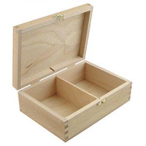 Kistje rechthoekig met 2 vakken
