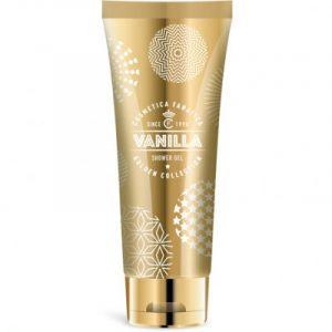 Showergel in goudkleurige tube / vanille