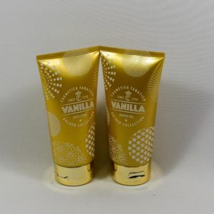 Bodylotion & Showergel in goudkleurige tube / vanille