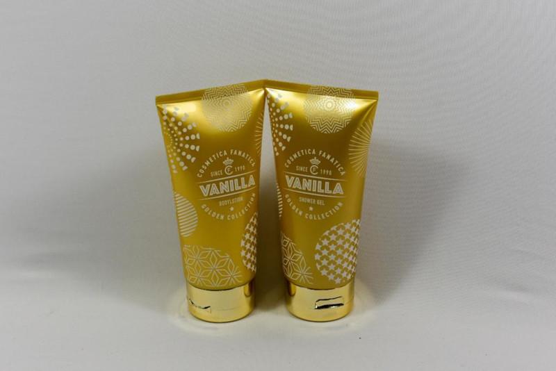 Bodylotion & Showergel in goudkleurige tube / vanille