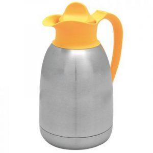 Thermoskan geel/ voor thee