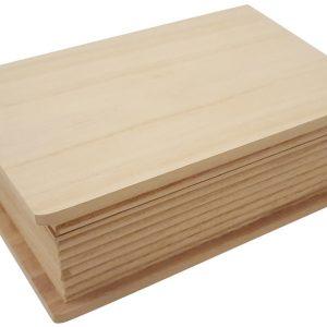 Houten kist in boekvorm (kleiner model)