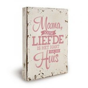 Houten decoratie - Lieve Mama