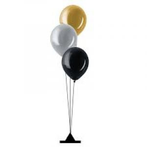 Ballonnen (sta)tafeldecoratie met helium Trosje 6 ballonnen