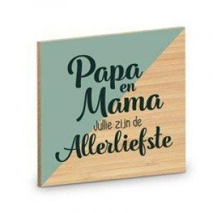 Onderzetter - Papa en Mama