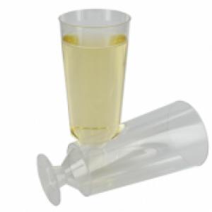 Disposable Champagneglas 200 ml - 10 stuks