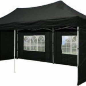 Party vouwtent, zwart 3x6