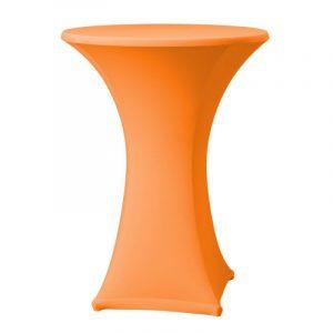 Statafel met oranje rok
