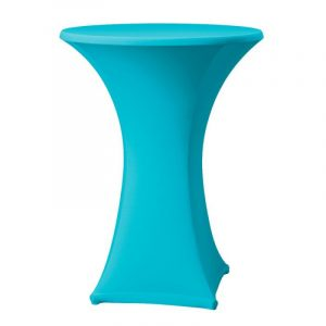 Statafel met turquoise rok