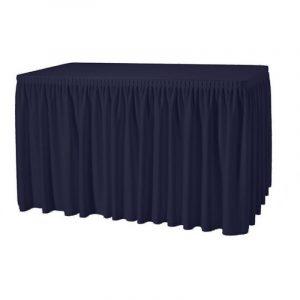 Buffettafel & blauwe rok