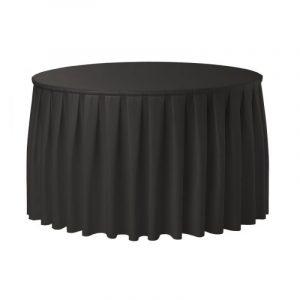 Tafel, rond 180 Ø met een zwarte rok