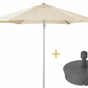 Parasol Ecru Ø 3m inclusief voet