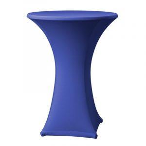 Statafel met blauwe rok