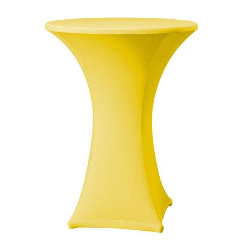 Statafel met gele rok